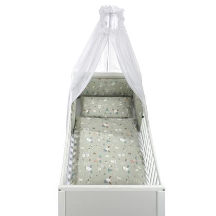 Alvi® Parure de lit enfant à barreaux Baby Forest, 3 pièces 100x135 cm
