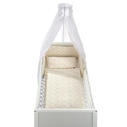 Alvi ® Juego de cama de 3 piezas Orgánico Cotton Jardín de rosas