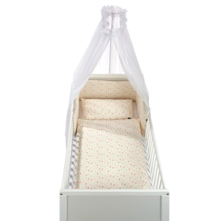Alvi ® Set da letto 3 pezzi Organic Cotton Roseto