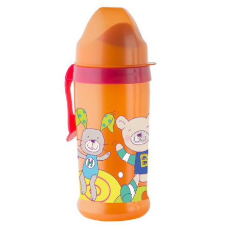 ROTHO Butelka z silikonowym ustnikiem raspberry / mandarine
