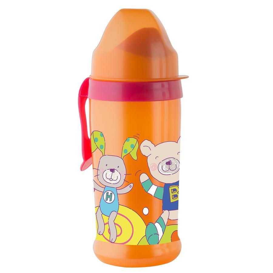 Rotho Babydesign Trinkflasche mit weichem Trinkaufsatz raspberry / mandarine