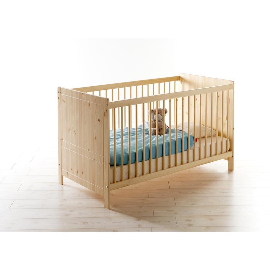 TiCAA Baby-Gitterbett Moritz Kiefer massiv natur