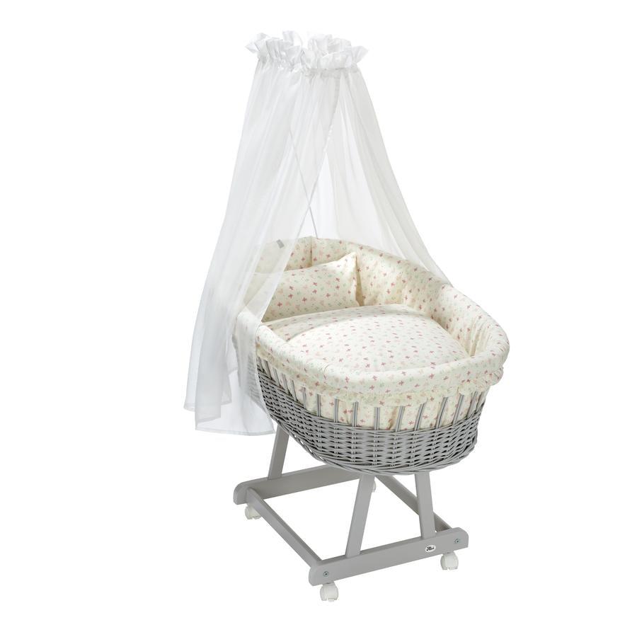 Alvi® 3-delt bassinet sett Organic Cotton Rose Garden