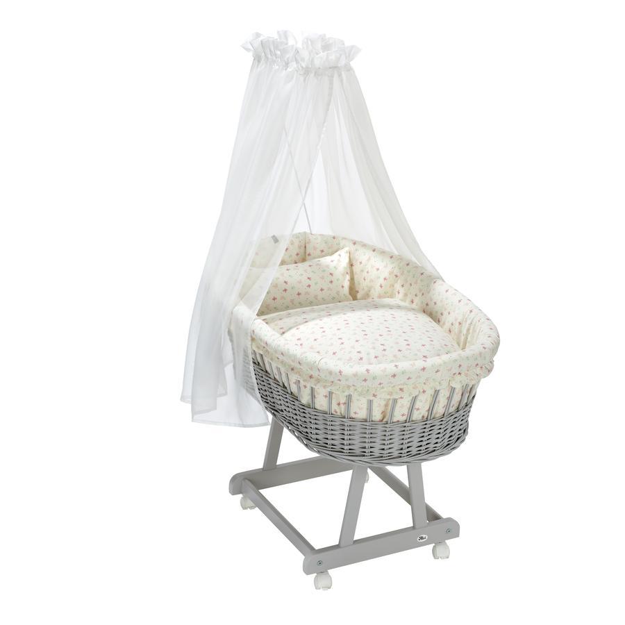 Alvi® Stubenwagengarnitur 3-tlg. Organic Cotton Rose Garden