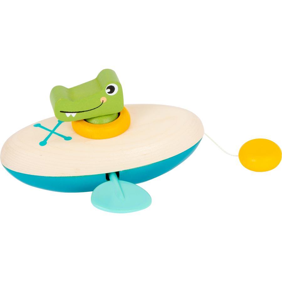 small foot® Wasserspielzeug Aufzieh-Kanu Krokodil