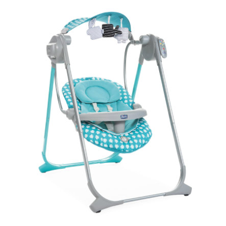 chicco Transat balancelle bébé Polly Swing Up Turquoise