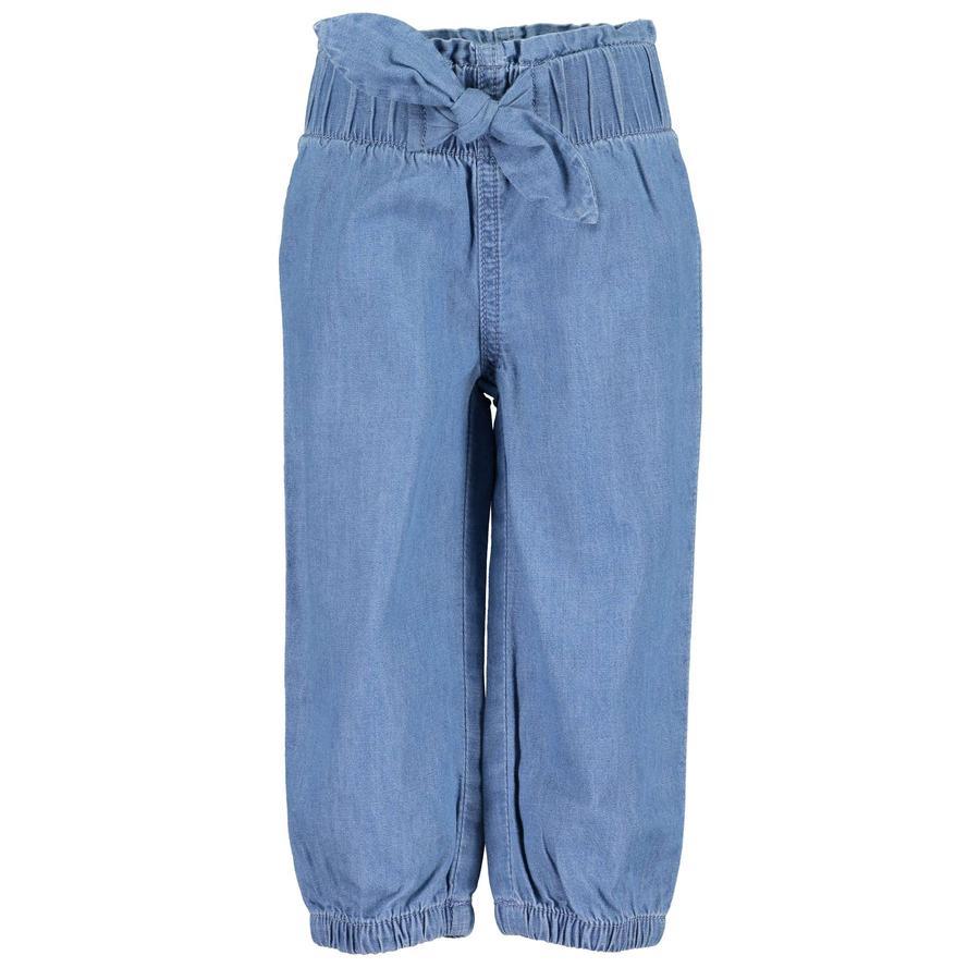 BLUE SEVEN Slip-on bukser denim blå