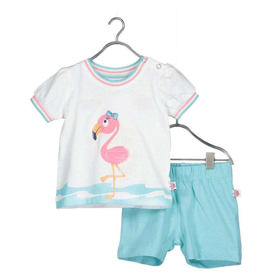 BLUE SEVEN 2er-Set T-Shirt + Shorts weiss