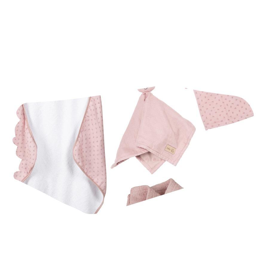 roba Coffret cadeau cape de bain enfant gant Jersey bio Lil Planet rose
