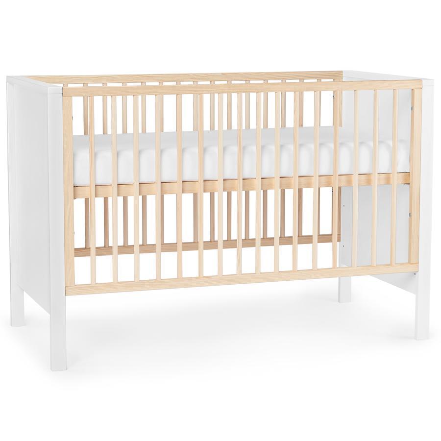 Kinderkraft Baby seng Mia med madrass Hvit