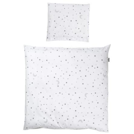 roba Wiegenbettwäsche 2-teilig Sternenzauber grau 80 x 80 cm