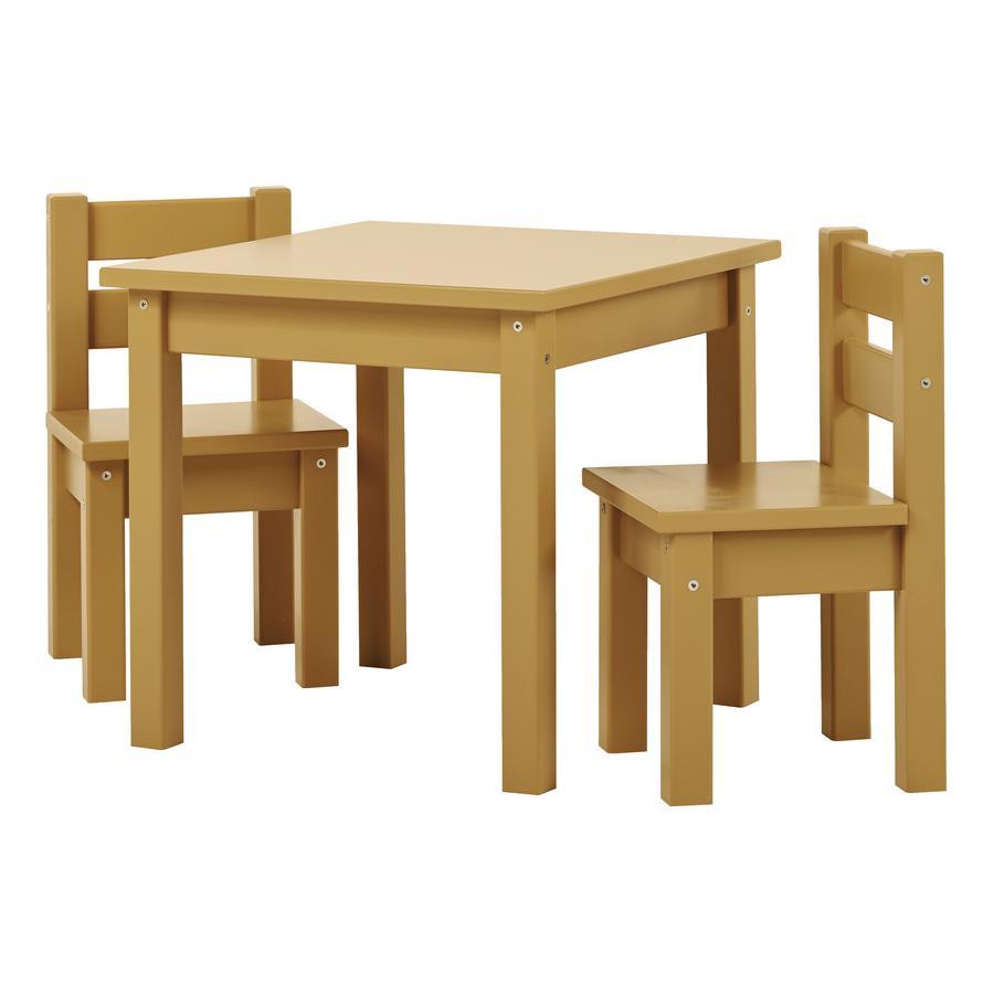 Hoppekids Mads Set tavolino e sedie per bambini Autumn Yellow