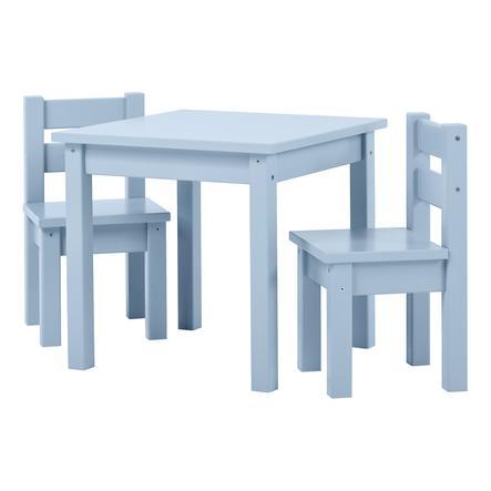 Hoppekids Ensemble table chaises enfant Mads bois Dream Blue