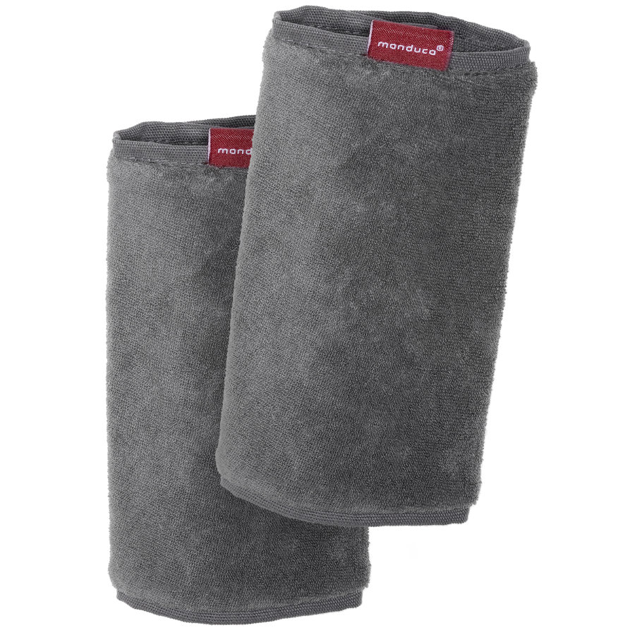 MANDUCA Fumbee Protector de tirantes, gris, pack doble