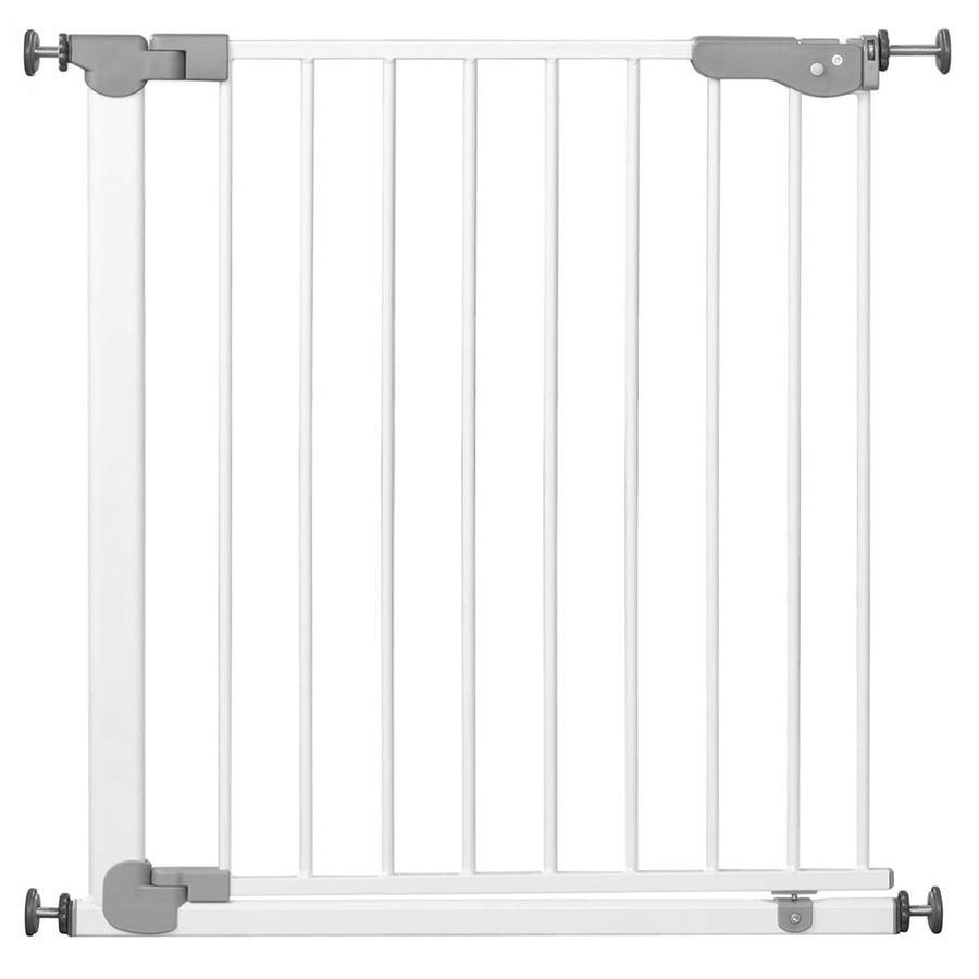 Reer Bramka zabezpieczająca na drzwi i schody  Basic Active-Lock metalowa kolor biały