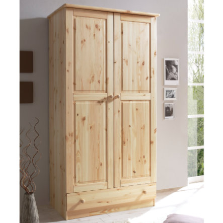 ticaa kleiderschrank moritz 2 t rig kiefer natur. Black Bedroom Furniture Sets. Home Design Ideas