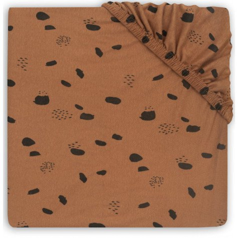 jollein Sábana bajera colchón corralito Spot caramelo 75 x 95 cm