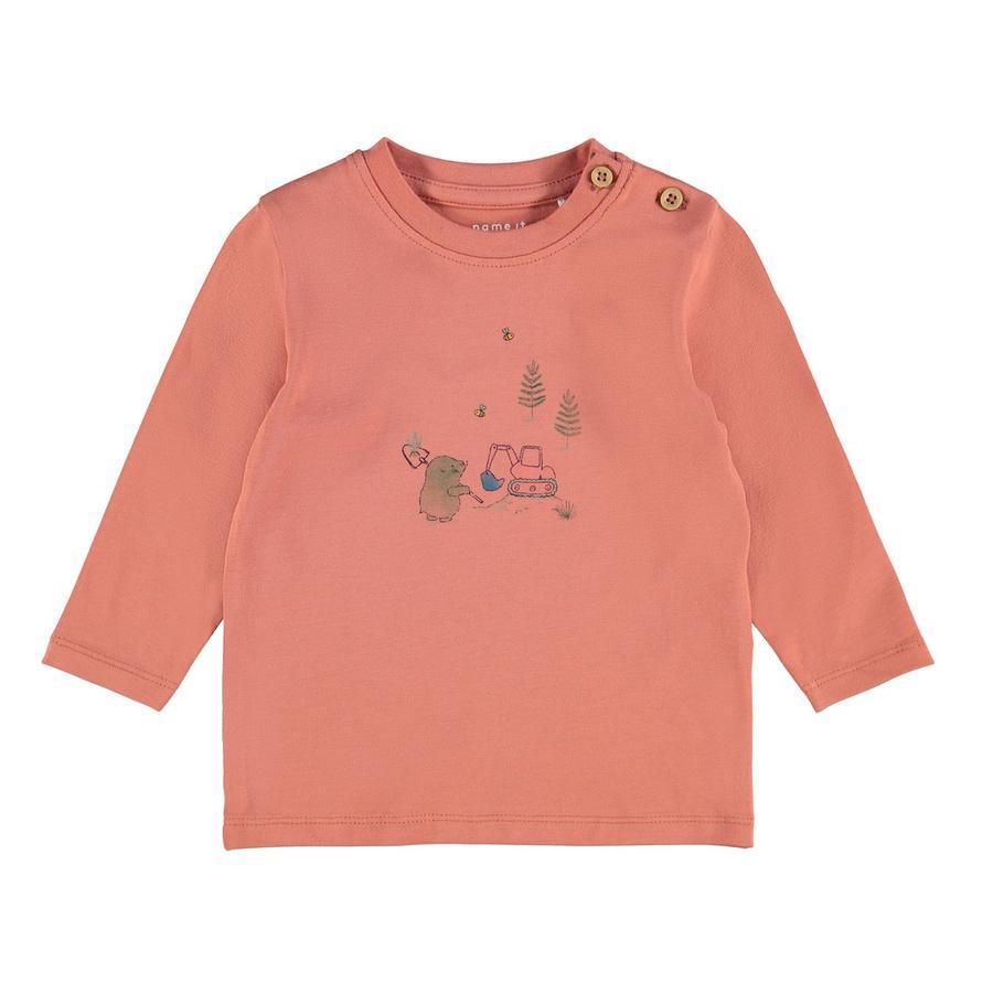 name it Pitkähihainen paita NBMDISOLLE Aprikoosibrändi
