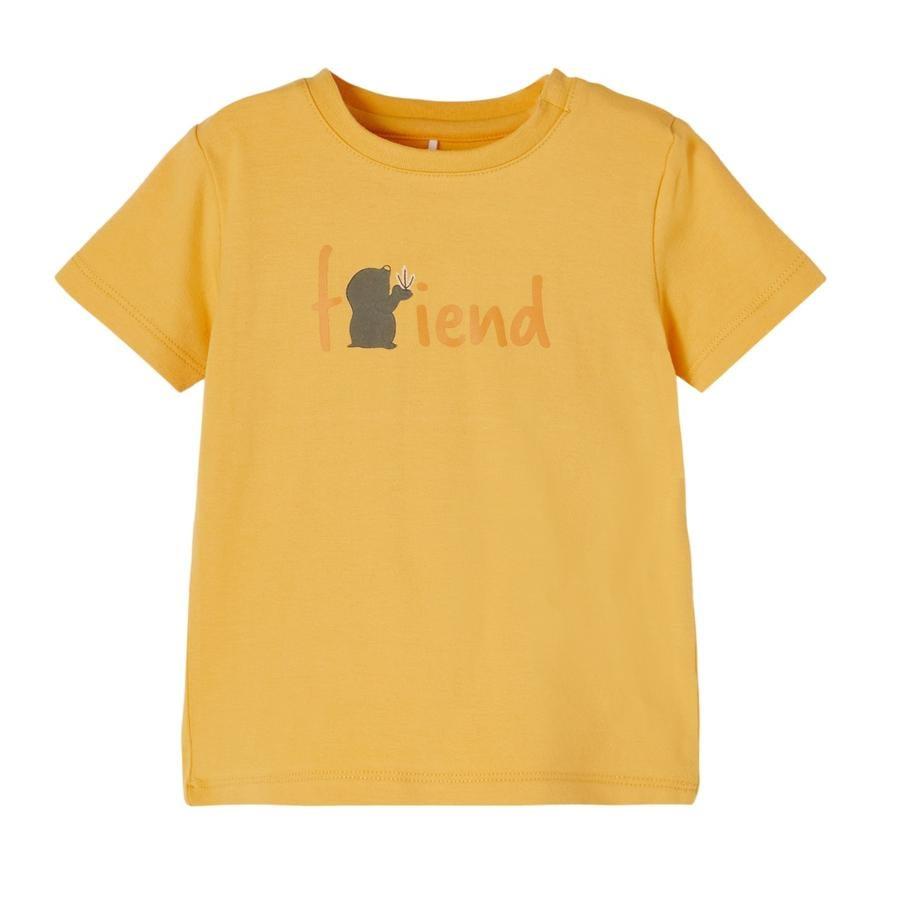 name it T-Shirt NBMDEFAM Ochre