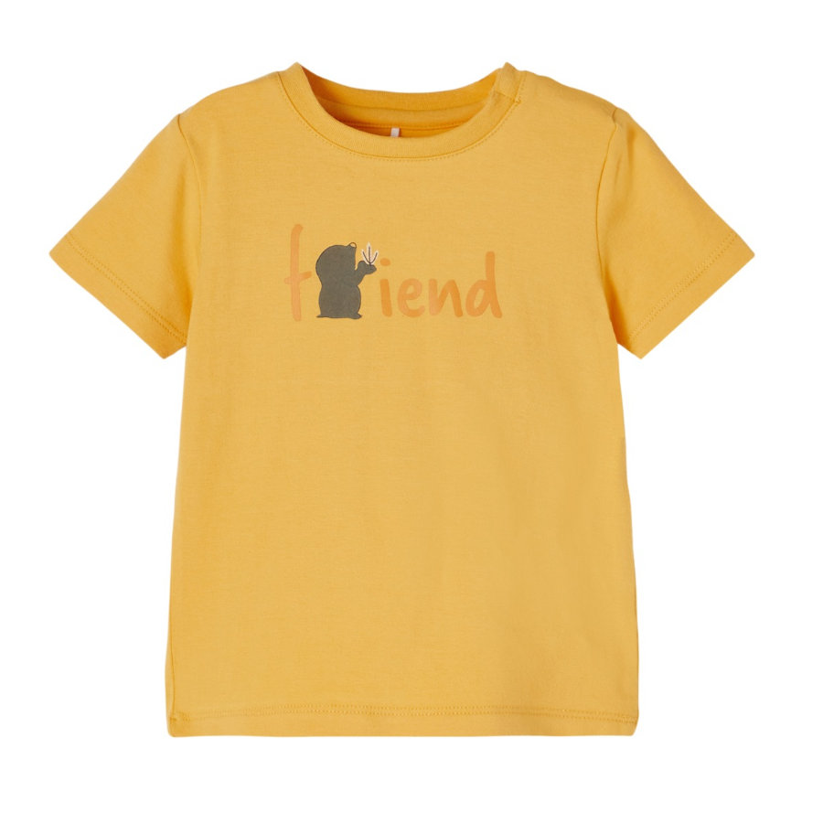 name it T-Shirt NBMDEFAM Ocre