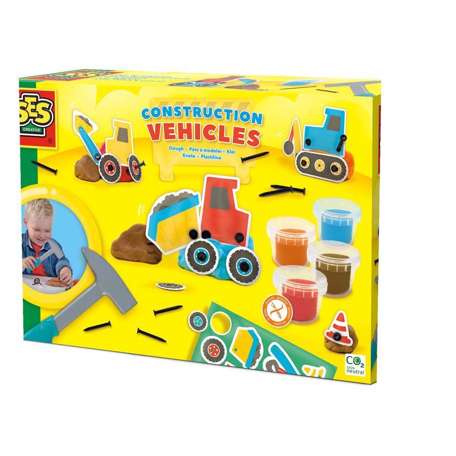 SES Creative® Knete - Baufahrzeuge