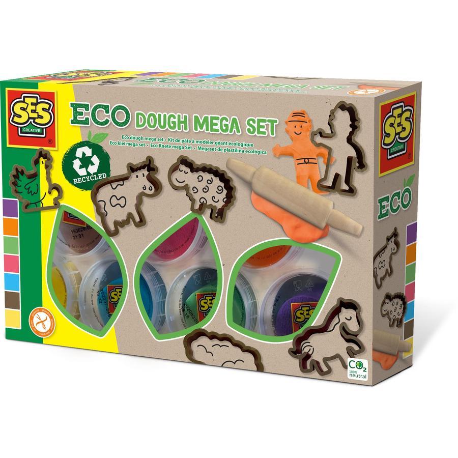 SES Creative® Eco Knete mega Set mit Ausstechförmchen - Tiere