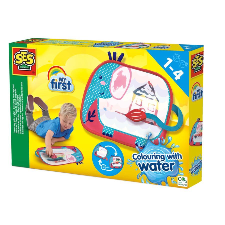 SES Creative® Min første - Maleri med vann - Elefantmatte