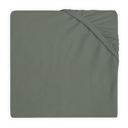 jollein Drap housse enfant matelas de parc Jersey ash green 75x95 cm