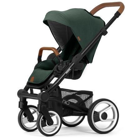 mutsy barnvagn Nio ram Black Cognac inklusive sits och skärm Adventure Pine Green