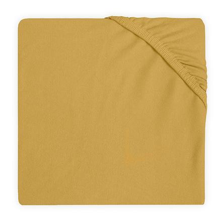 jollein Jersey Spannbettlaken Laufstallmatratze mustard 75 x 95 cm