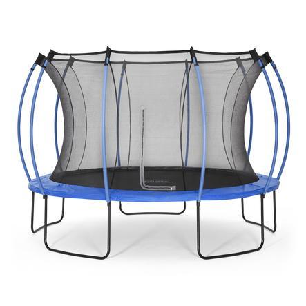 plum® Springsafe Trampolin Colours 366 cm mit Sicherheitsnetz, blau