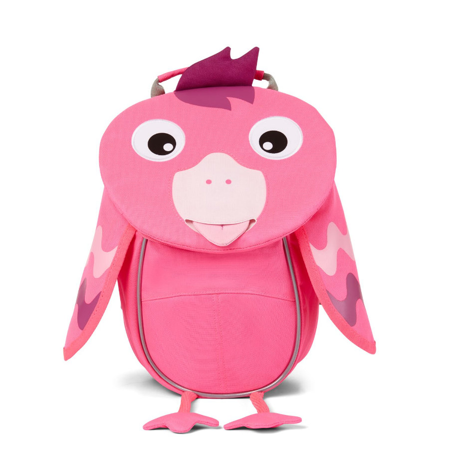 Affenzahn Little friends - mochila para niños: flamingo, rosa neón
