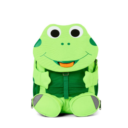 Affenzahn Big friends - zaino per bambini: rana, verde neon