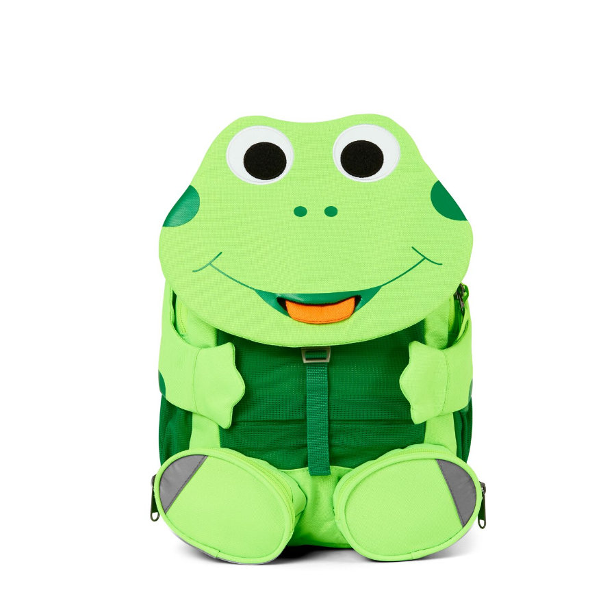 Affenzahn Big friends - dětský batoh: žába, neonově zelený