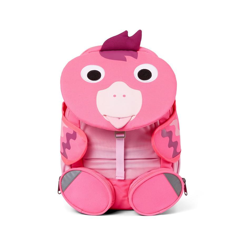 Affenzahn Great friends - ryggsäck för barn: flamingo, neonrosa