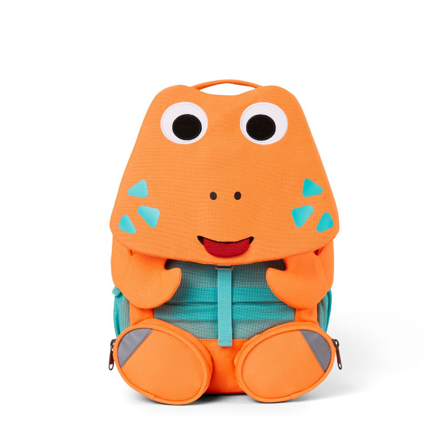 Affenzahn Sac à dos enfant Grands Amis crabe, orange fluo