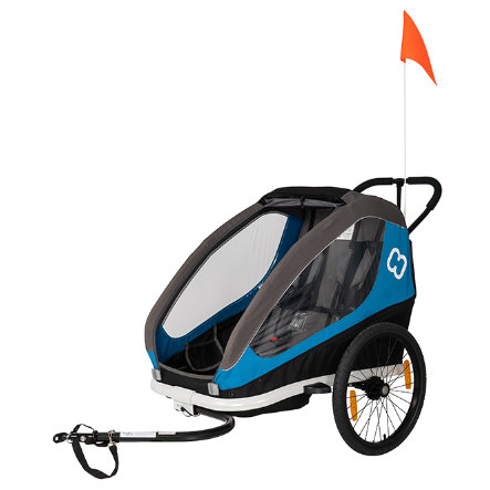 Hamax Traveller Cykeltrailer inkl. cykelarm & forhjul, Blue/Grey