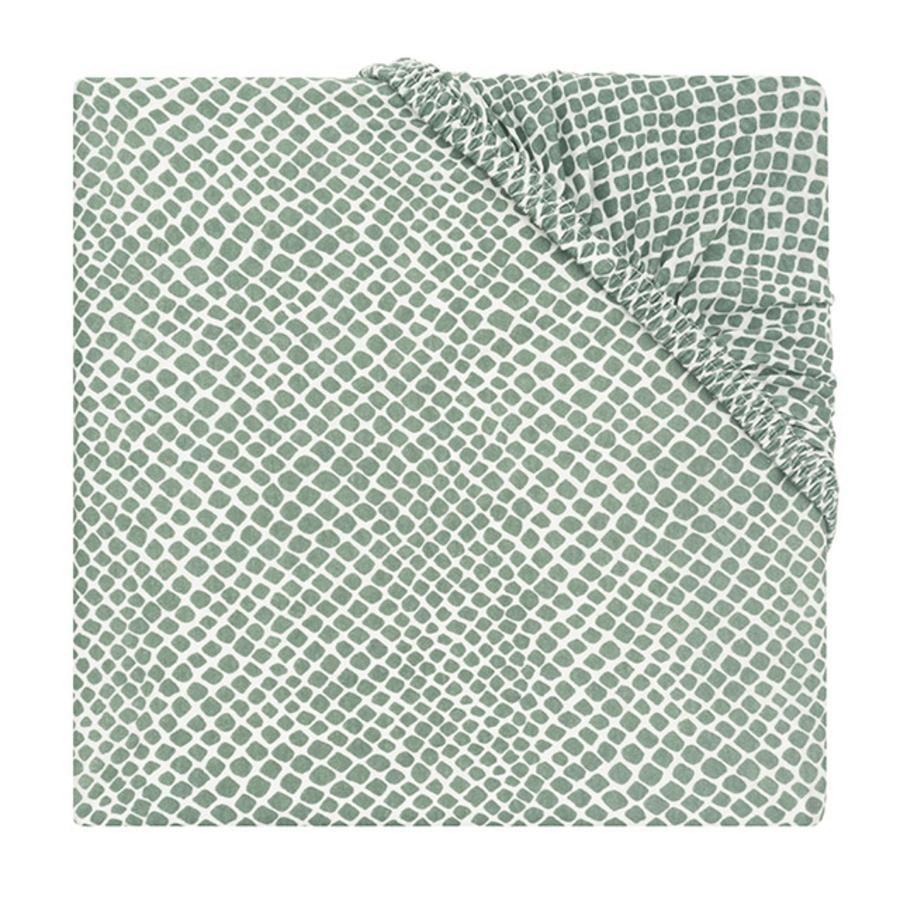 jollein Jersey Spannbettlaken Laufstallmatratze Snake ash green 75 x 95 cm