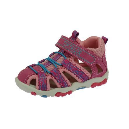 TOM TAILOR Sandale pink-türkis