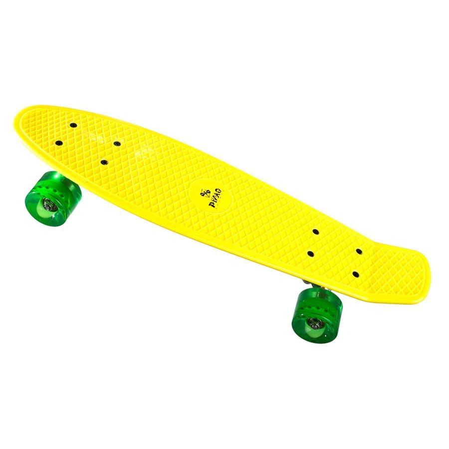 PiNAO Sports Retro Skate board geel