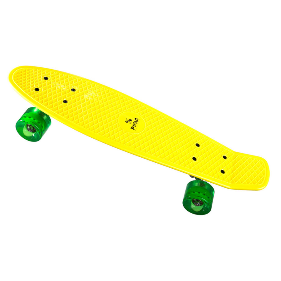 PiNAO Sports Retro-Skateboard gelb