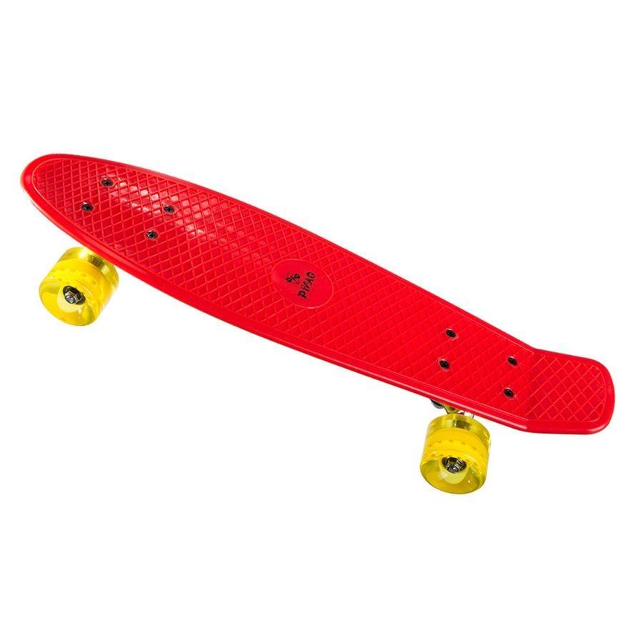 PiNAO Sports Skateboard enfant rétro rouge
