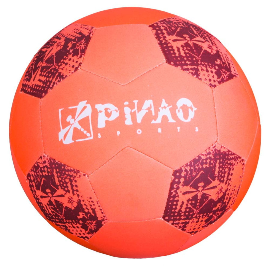 PiNAO Sports Neoprenový plážový fotbal, neonový orange