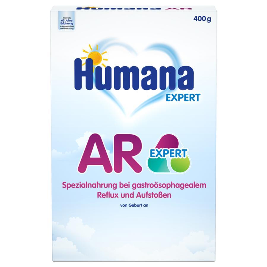 Humana Spezialnahrung Anti Reflux AR Expert bei Rückfluss und wiederholtem Aufstoßen von Speisebrei 400 g von der Geburt