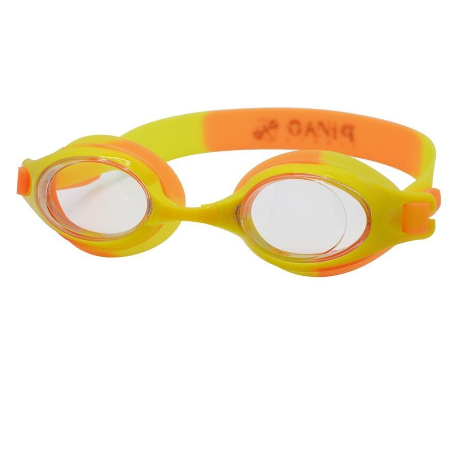 PiNAO Sportowe okulary pływackie dla dzieci orange /żółty