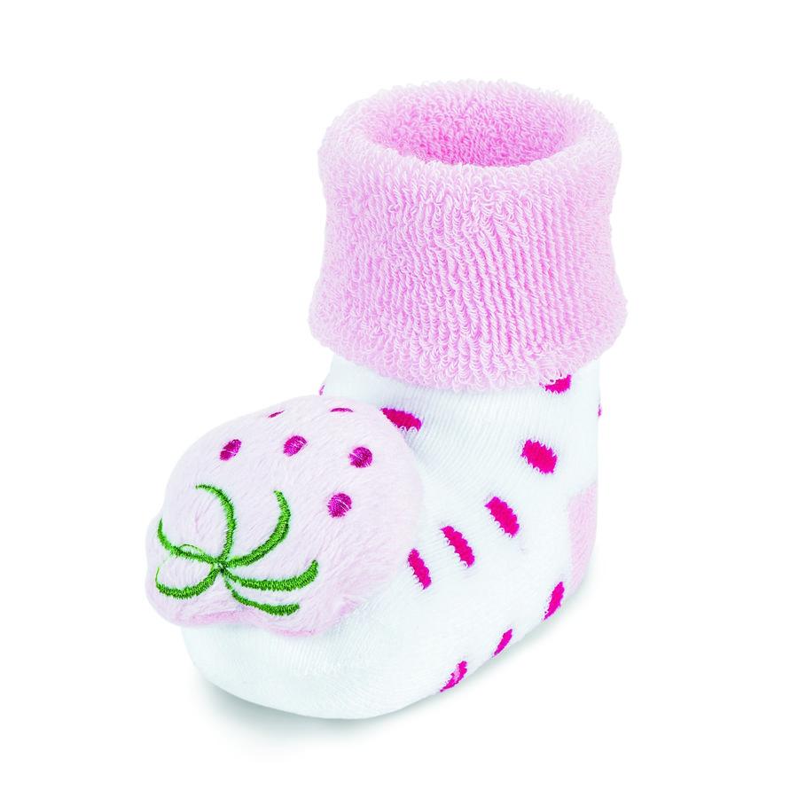 Sterntaler chaussettes à hochet pour bébé blanc fraise