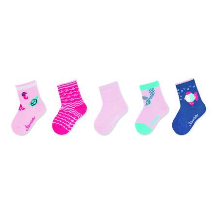 Sterntaler Dětské ponožky 5-pack růžové