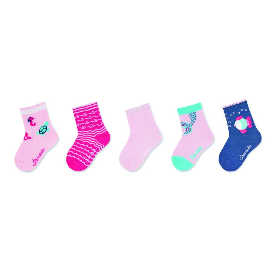 Sterntaler babystrømper 5-pak pink
