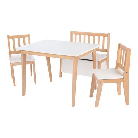pink or blue Ensemble table et chaises enfant DAVID bois