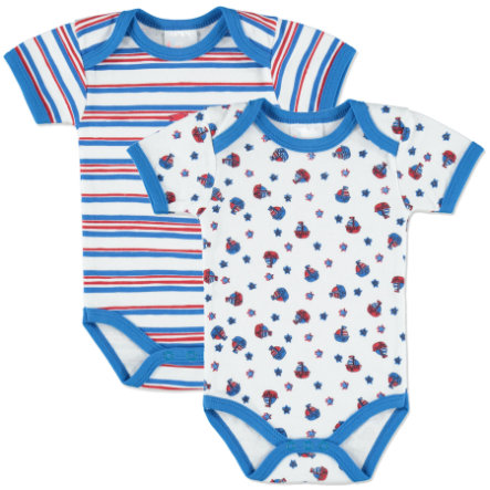 pink or blue Boys Lot de 2 bodies maritimes, motifs, blanc/bleu